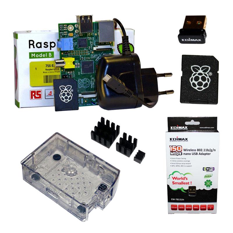 Raspberry-Pi-Modell-B-SET-mit-Gehause-Netzteil-WLAN-8GB-SD-Karte-Kuhlkorper