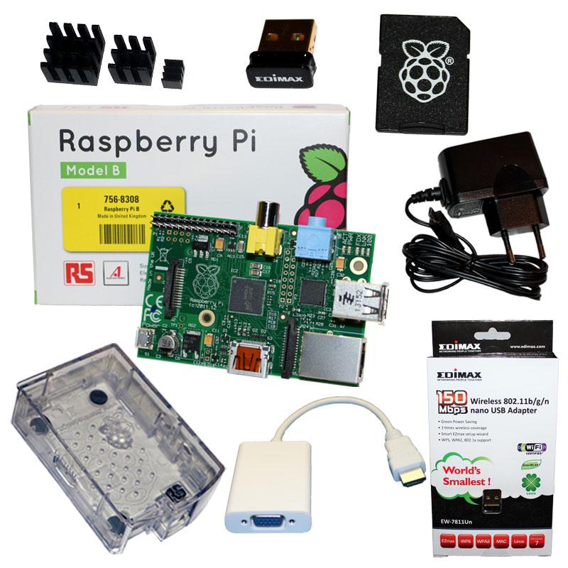 Raspberry-Pi-SET-mit-Gehaeuse-Netzteil-WLAN-SD-Karte-Kuehlkoerper-HDMI-VGA