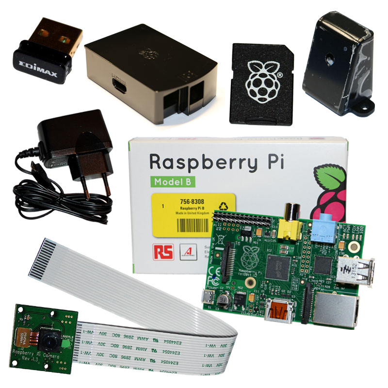 Raspberry-Pi-Camera-Set-IP-Cam-mit-Gehaeuse-Netzteil-WLAN-SD-Karte-Kamera