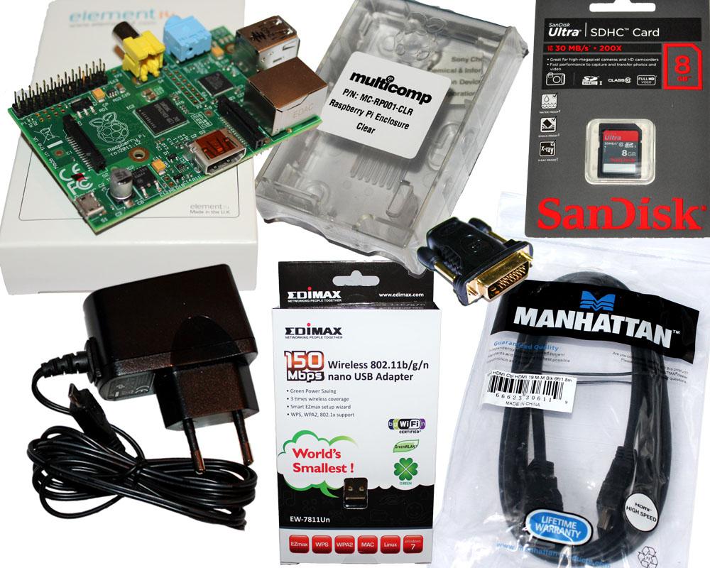 Raspberry-Pi-Komplettset-incl-Gehaeuse-Netzteil-WLAN-HDMI-SD-Karte-Class-10