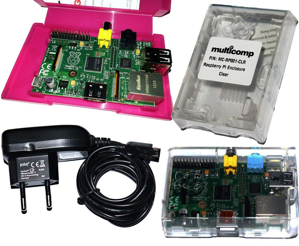 Raspberry-Pi-Modell-B-512MB-mit-Gehause-und-Netzteil-KIT-NEU